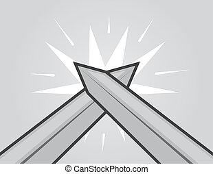 espadas, golpear