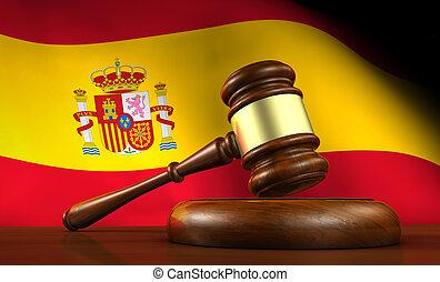 espagne, droit & loi, et, justice, concept