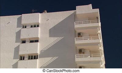 espagnol, appartement, plage, gros plan, spaniard