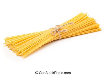 espaguete, isolado, branco, fundo