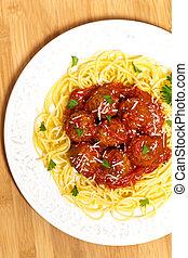 espagueti con las albóndigas
