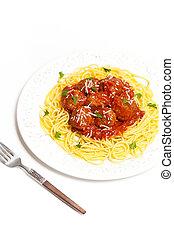 Espaguetis, Albóndigas