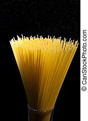 espaguetis, en, un, vidrio