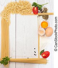 espaguetis, marco