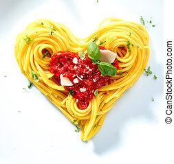 espaguetis, para, un, ser querido