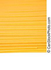 Espaguetis, secado