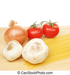 espaguetis, y, ingredientes