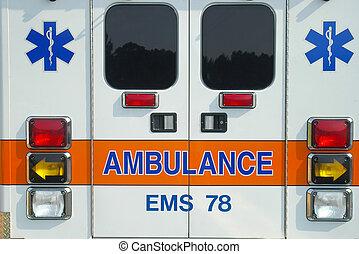 espalda, ambulancia