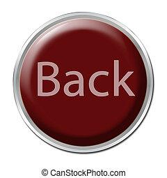 espalda, botón