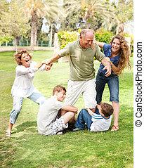 espalda, familia , tenencia, aduelo