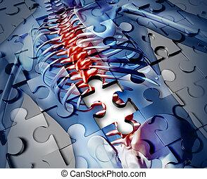 espalda, humano, enfermedad