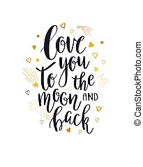 espalda, luna, amor, usted