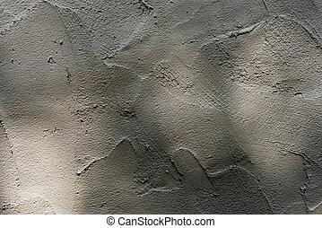 espalhar, tijolos, cimento
