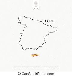 espana contour - Kingdom of Spain outline map and official...