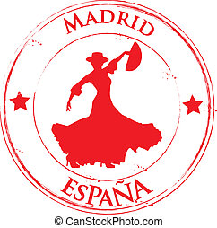 espana, flamenco, -, madryt
