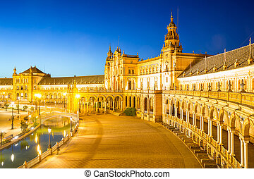 espana Plaza Sevilla Spain - Spanish Square espana Plaza in...