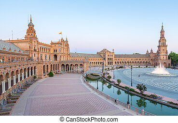 espana Plaza Seville Spain - Spanish Square espana Plaza in...