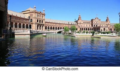 espana, seville, plac, -, hiszpania, od