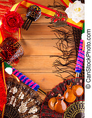 Espana typical from Spain with castanets flamenco elements -...