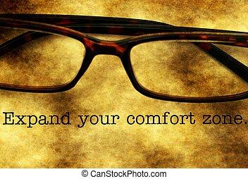 espandere, conforto, tuo, zona
