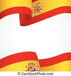 espanha, insignia, branco