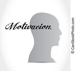 espanhol, motivação, conceito, mente, sinal