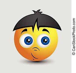 espantado, inocente, chino, emoji