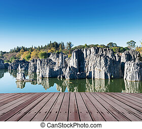 espantoso, lago montanha