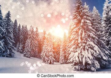 espantoso, paisagem inverno