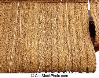 Esparto woven hemp curtain as traditional mediterranean -...