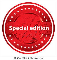 especial, sello de goma