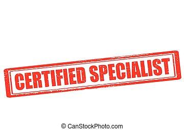 especialista, certificado