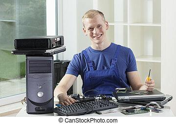 especialista, computador