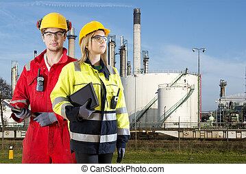 especialistas, petrochemical, segurança