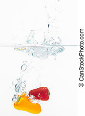 especias, en, agua