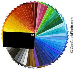 espectro, roda, escala, cutout