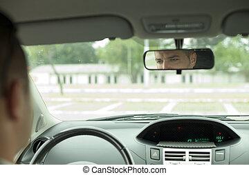 espelho, carro