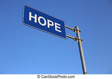 esperança, sinal estrada