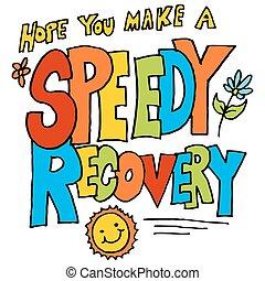 esperança, tu, fazer, um, veloz, recuperação, mensagem
