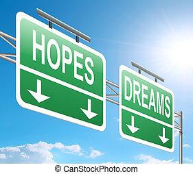 esperanzas, concept., sueños