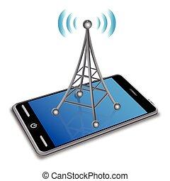 esperto, comunicação, telefone