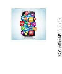 esperto, telefone, apps