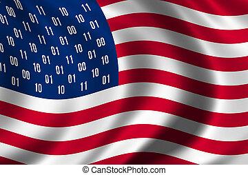espião, bandeira, conceito, eua
