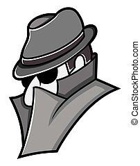 espião, vetorial, ícone