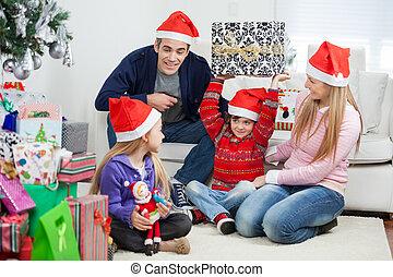 espiègle, dons, noël, famille