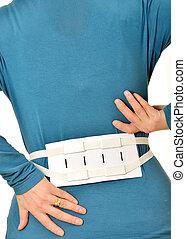 espina dorsal, abrazadera, cinturón