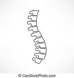 espina dorsal, diagnósticos, símbolo, diseño