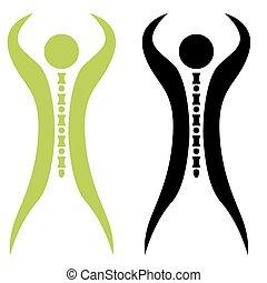 espina dorsal, hombre fuerte