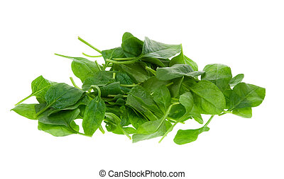 espinafre fresco, folhas