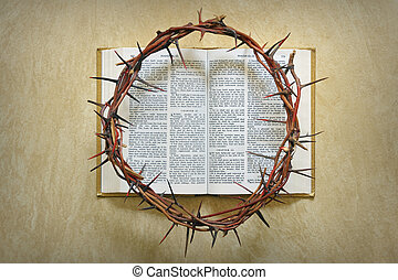 espinas, biblia, corona